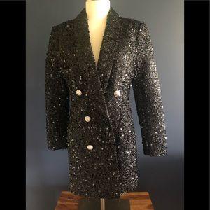Sequin Blazer Party Mini Dress